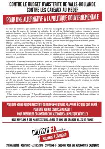 Tract 15 novembre manifestions en régions